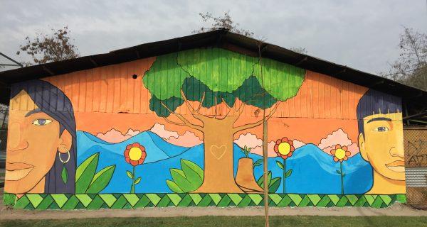 Taller De Muralismo Comunitario En La Escuela Libre El Vivero De Maipú